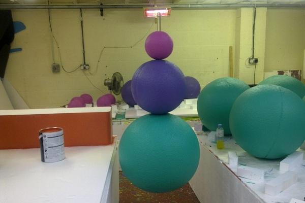 шары сферы из пенопласта